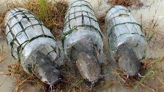 Creative Plastic Bottle Fishing Trap - Traditional Khmer Fish Trap Called LEAY