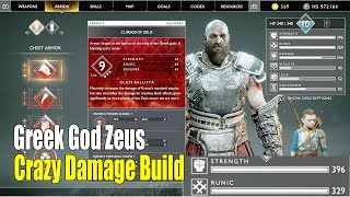 God Of War New Game Plus - Greek God Zeus Armor Upgrade to Max (Level 9) Best Armor Ever