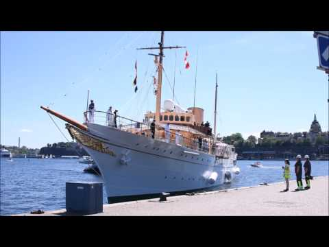 Royal Yacht Dannebrog arrives to Sweden.