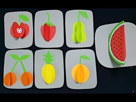Fruits with paper/ DIY easy