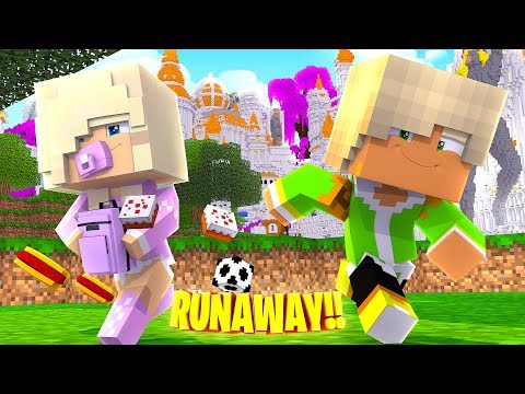 GROUNDED BABY KAYLA RUNS AWAY FROM HOME!! Minecraft - Little Donny & Little Leah Adventures
