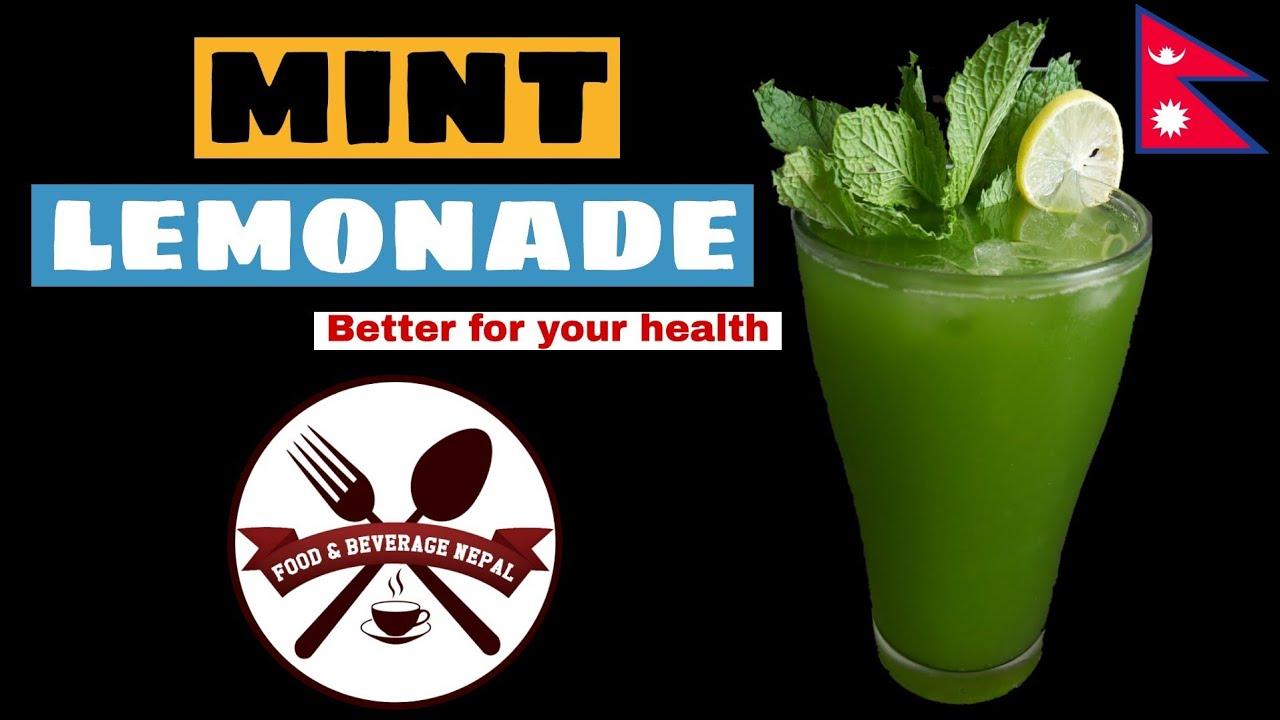 How To Make Mint Lemonade    Home Made Mint Lemonade Recipe [ in Nepali] F&B Nepal