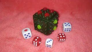 Игральная кость кубик из лего.Обзор+инструкция