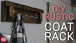 $2 Rustic Coat Rack
