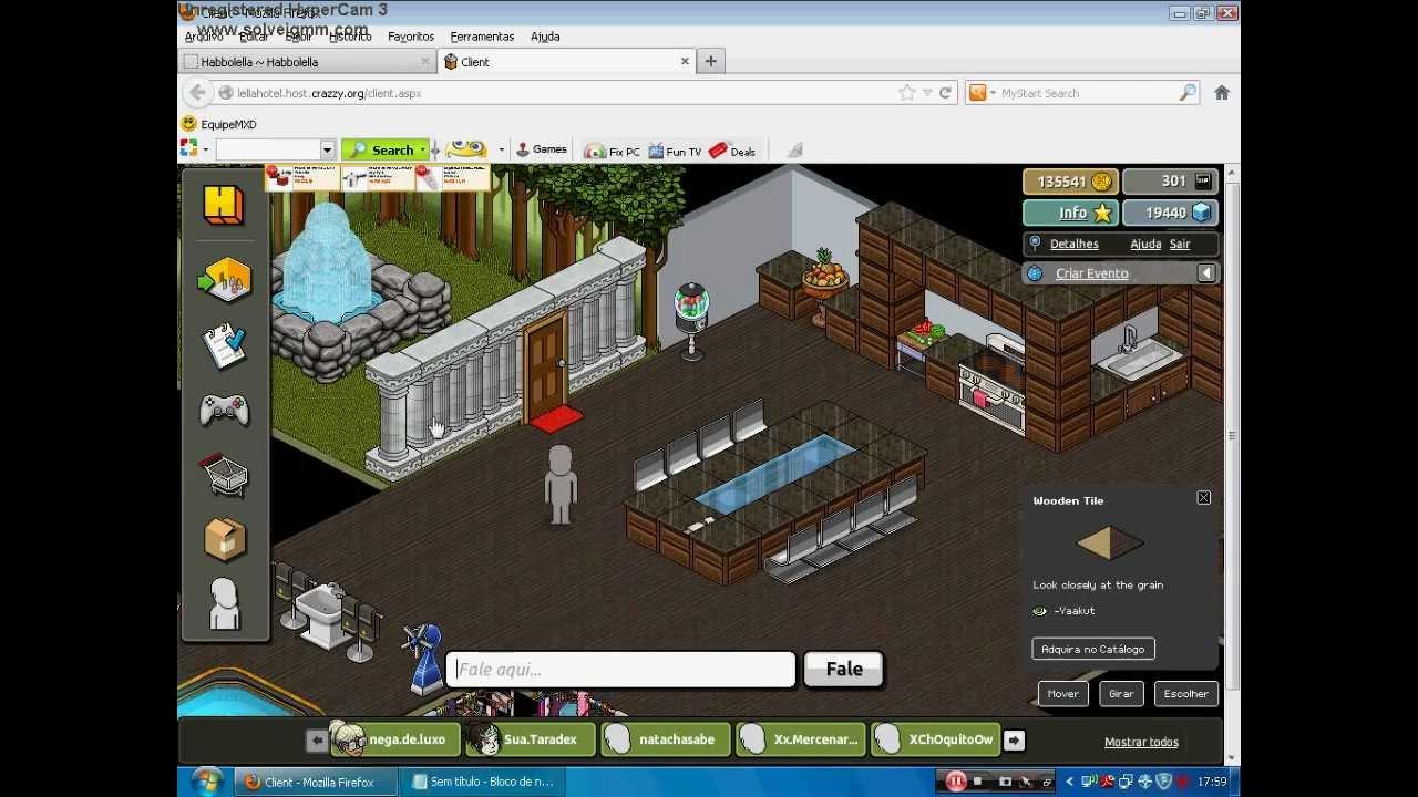 Minha casa bonita no habbo youtube for Casa moderna para habbo