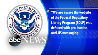 The Department of Homeland Security responds to federal website hack   ABC News
