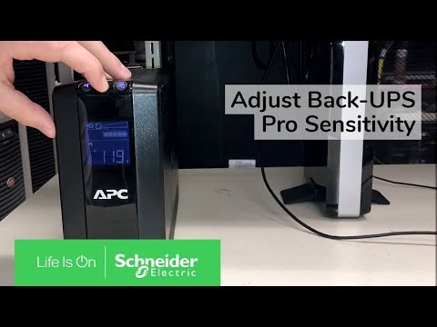 Adjusting Sensitivity Of Back-UPS Pro RS/XS G & M Series | Schneider Electric Support