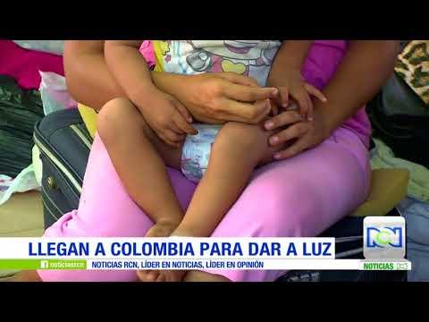 Venezolanas embarazadas llegan a Colombia en busca de un mejor futuro para sus bebés
