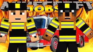 Minecraft - Donut the Dog Adventures - SAVING A BUILDING ON FIRE!!!!