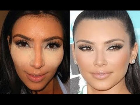 KIM KARDASHIAN CONCEALER/CONTOURING TUTORIAL - STEP BY STEP - YouTube