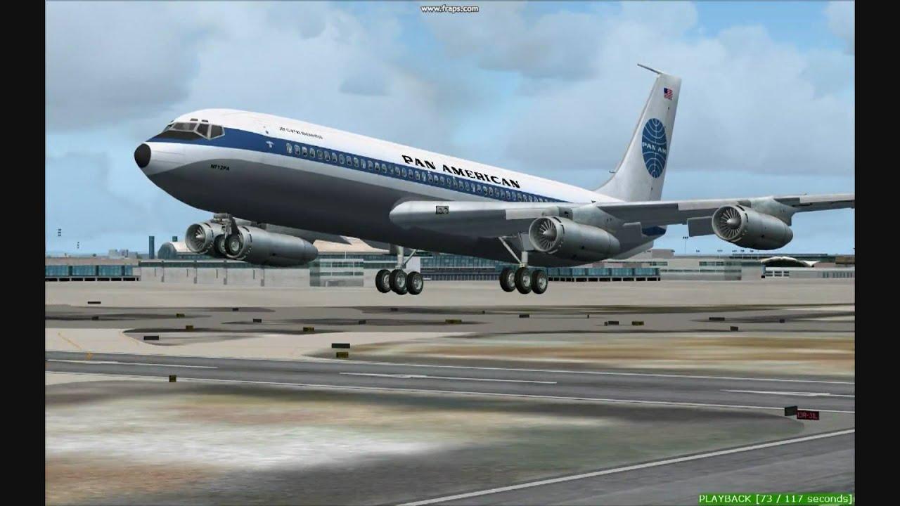 Pan American Boeing 707-120b Takeoff From Kjfk