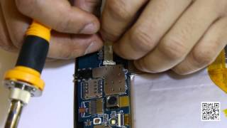 How to replace damaged sim card slot.