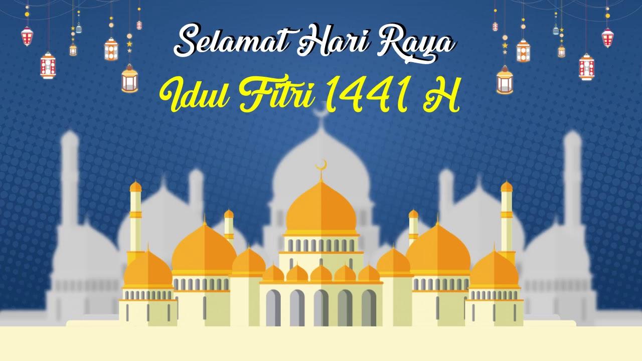 Template Ucapan Idul Fitri 1441 H Free Bebas Di Download Youtube