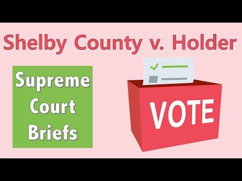 Suppressing the Vote | Shelby County v. Holder