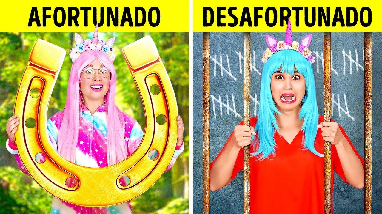 UNICORNIO CON BUENA SUERTE VS. MALA SUERTE EN PRISIÓN || Situaciones locas y graciosas por 123 GO!