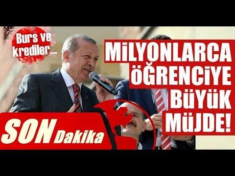 Erdoğandan Milyonlarca ÖĞRENCİYE BURS KREDİ Müjdesi #UyanARTIK