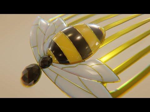 [Miraculous Ladybug] Queen Bee Miraculous Hair Comb [Blender Challenge] / [レディバグ ]クイーンビー髪飾り[ブレンダー]