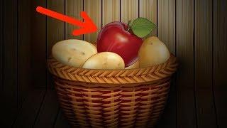 Coloque uma maçã junto com as batatas. É assim que você se livra...