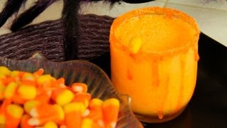Orange Halloween Drink Party Recipe: Ghoul Drool