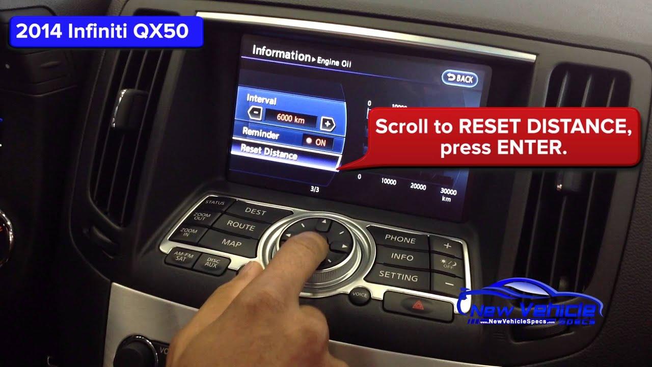 2014 Infiniti QX50 Oil Light Reset / Service Light Reset