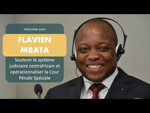 Flavien Mbata, Ministre de la Justice de la République Centrafricaine