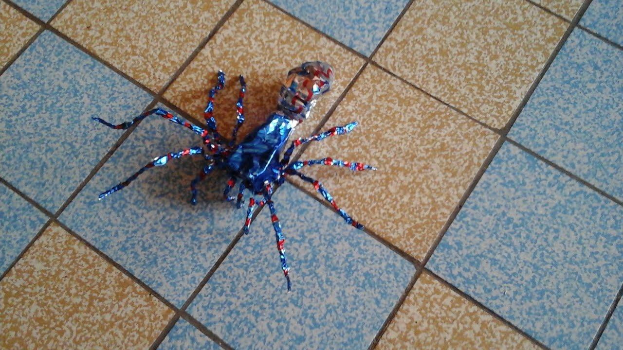 personnage en papier d aluminium comment faire une araign 233 e