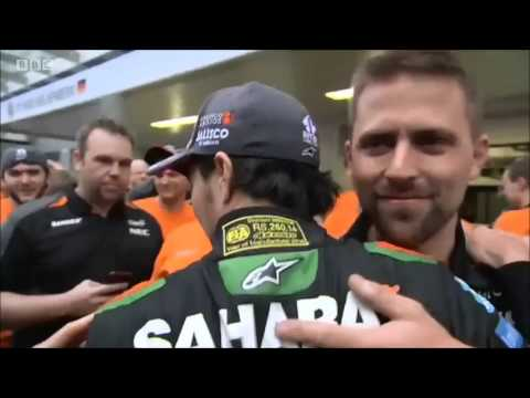 Force India's celebrations. Russian GP