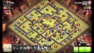 Clash Of Clans - TH10 5 Lightning Spells, Earthquake zap, New 3 Stars Strategy!