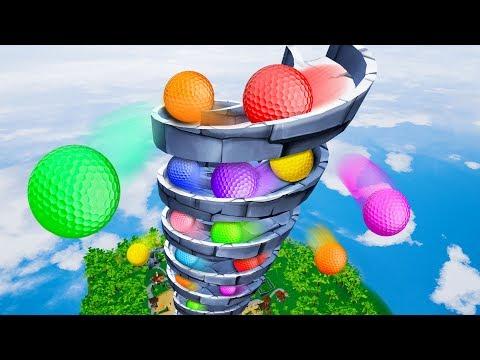 INFINITE MINI GOLF SPIRAL! - Golf It