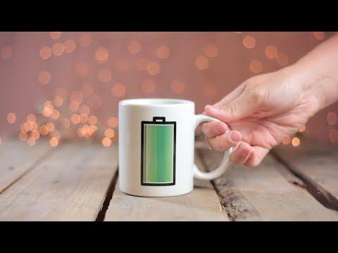 Warmtegevoelige mok Batterij - Een oplaadmomentje voor jezelf