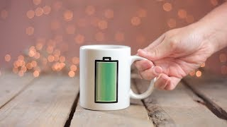 Warmtegevoelige mok Batterij - Een oplaadmomentje voor jezelf