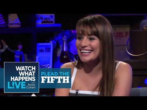 How is Matthew Morrison in Bed?  Lea Michele Pleads the Fifth  WWHL