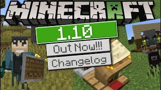 Minecraft - 1.10 OUT NOW ! SHIELDS & CROSSBOWS ! [ Changelog ] MCPE / Xbox / Bedrock / Switch
