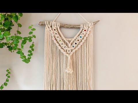 macrame-wall-hanging-with-beads- -beginner-tutorial- -el-camino-bracelets
