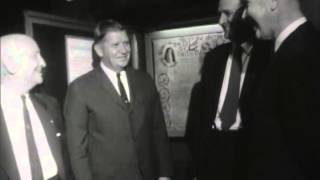 Gov. Sanford and others view the Carolina Charter, October 1963 [DVD.74/MPF.118]