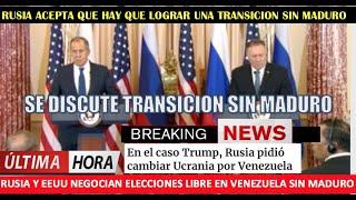 EEUU evitar intervencion a Maduro es pactar con Rusia una transicion
