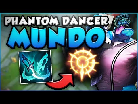 PHANTOM DANCER MUNDO! TROLL OR NEW SECRET OP?! NEW MUNDO SEASON 8 TOP GAMEPLAY! - League of Legends