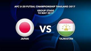 U20 Japan vs U20 Tajikistan - Futsal Châu Á 2017