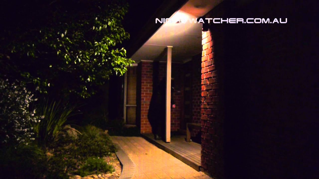 nightwatcher security light actual night footage youtube rh youtube com night security light project security night light timer