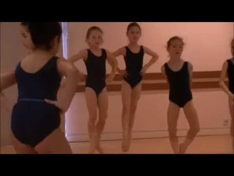 Ballet class  age 7-9 years old.  (Grade 1) ballet lesson