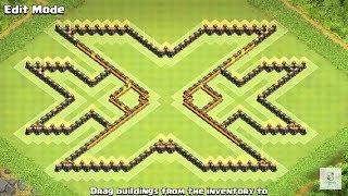 TH 11 Troll Base Diseño Triple X (xXx) - Clash of Clans (COC TH11)