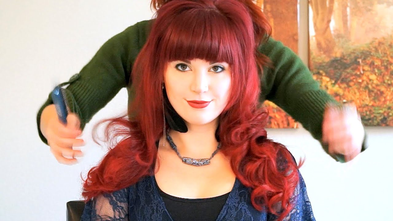 ASMR Hair Styling For Long Hair With Hair Brushing Sounds Soft - Styling long hair