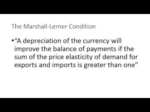 Marshall Lerner and the J Curve