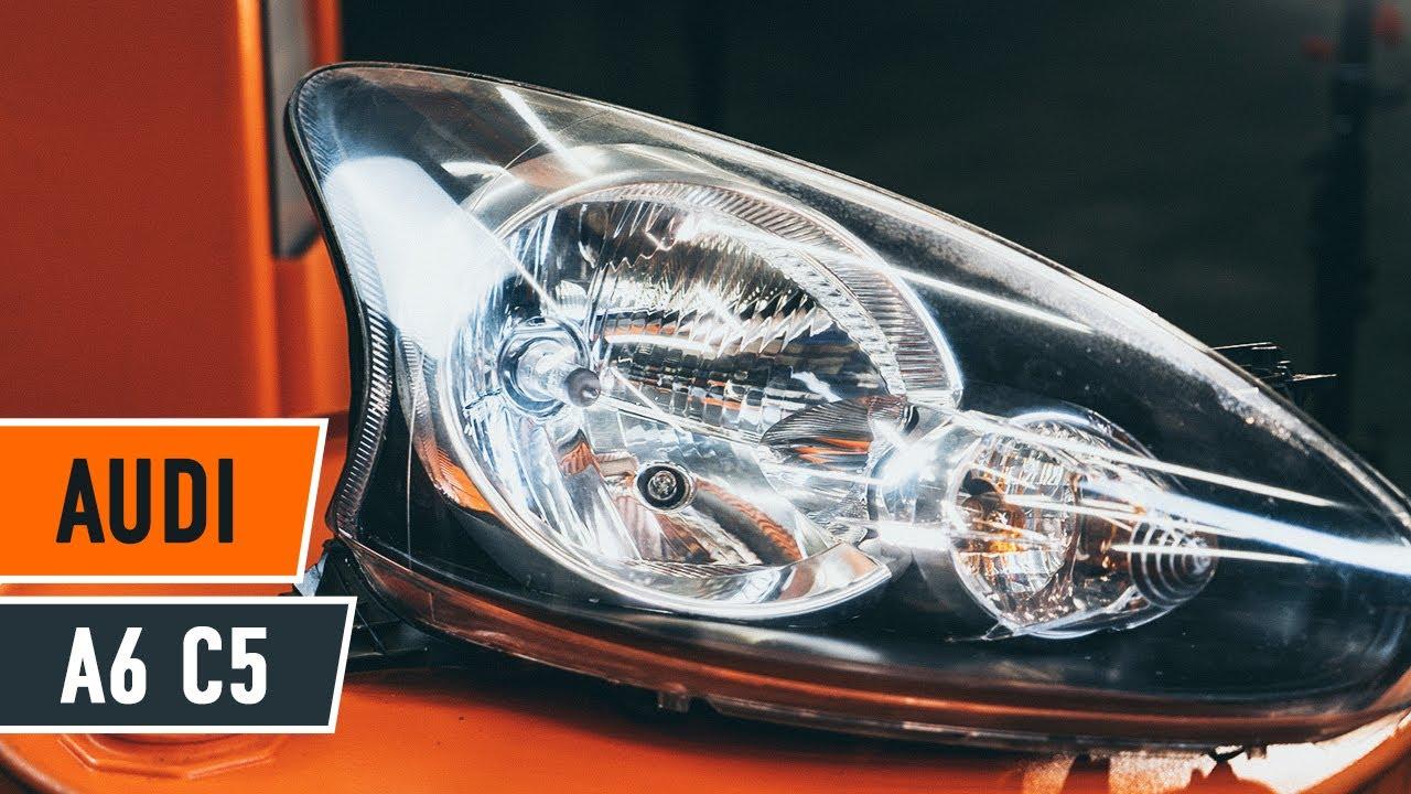 Kā nomainīt AUDI A6 C5 priekšējo gaismas lukturi [Pamācība]