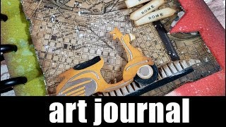 Step by step video on creating an art journal using mixed media tec...