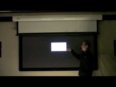 Black Projection Screen