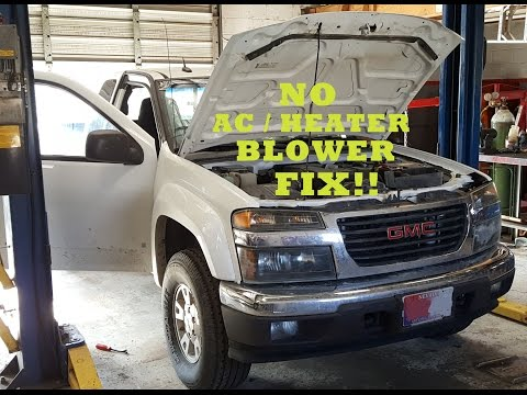 2003-2012 Chevrolet/GMC Colorado/Canyon HVAC Blower Motor Fix!!