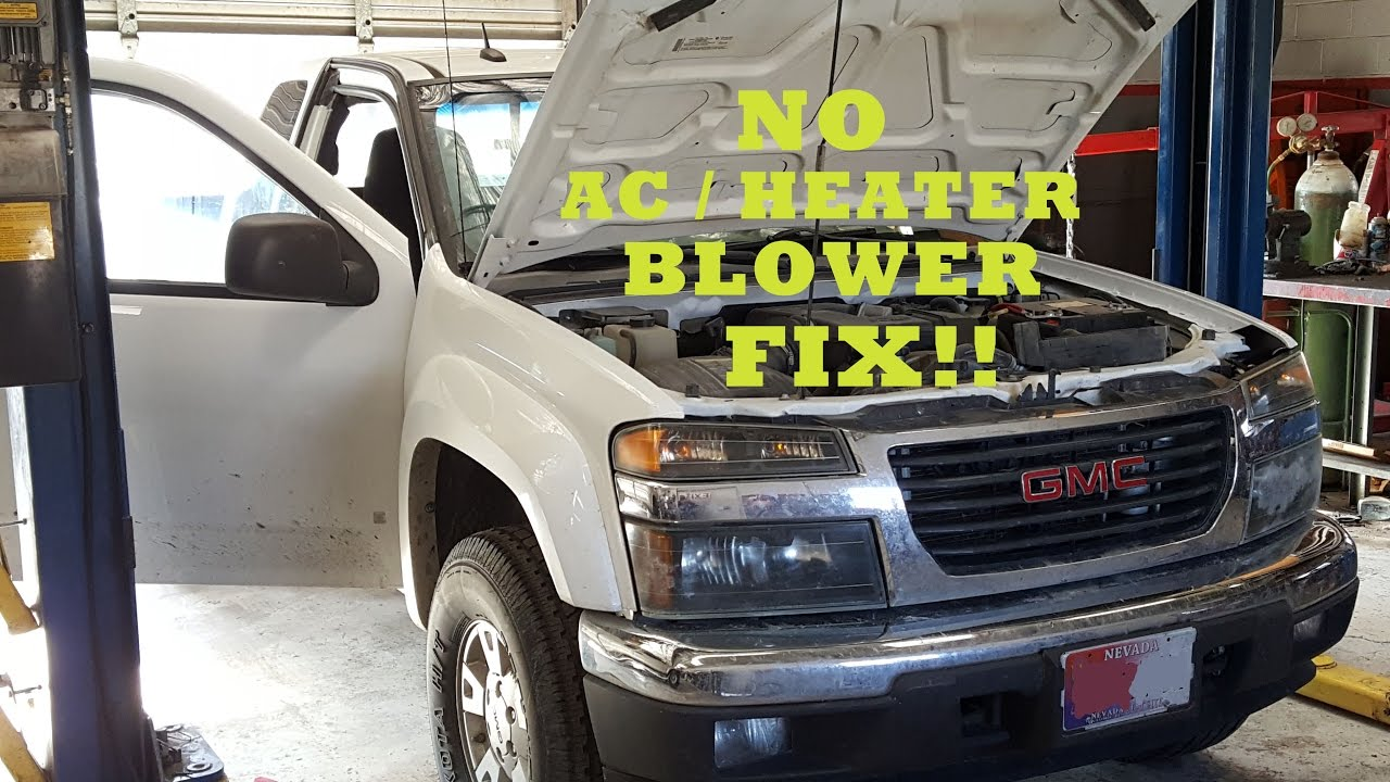 hight resolution of 2003 2012 chevrolet gmc colorado canyon hvac blower motor fix