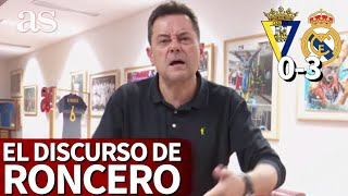 CÁDIZ 0- REAL MADRID 3 | El discurso de RONCERO | Diario AS