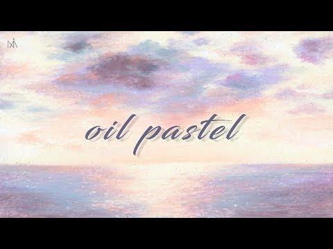 Landscape painting with Oil pastel : '힐링영상' 크레파스/오일파스텔로 풍경화 그리기 [NIA]